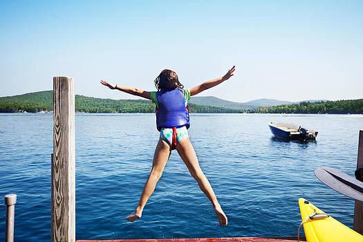 Jo Ann Snover - Girl jumps in the lake