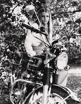 Wayne Nielsen - Girl Motorcycle Young - Nymph Sits Atop Motorcycle