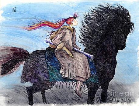 Girl on Black Horse by Elizabeth  Berg