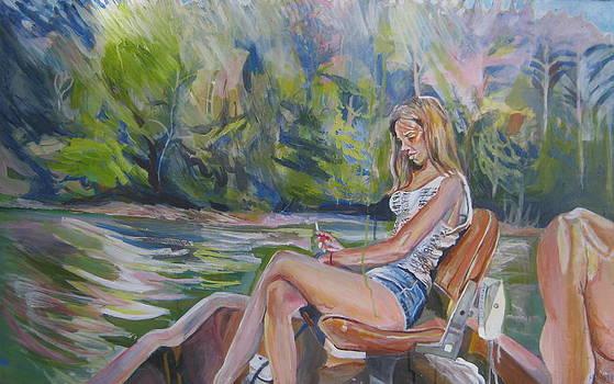Girl On Boat by Devin Hunter