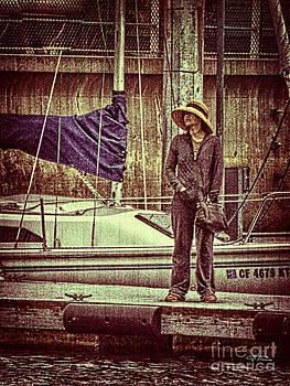 Charles H Davis - Girl on Dock