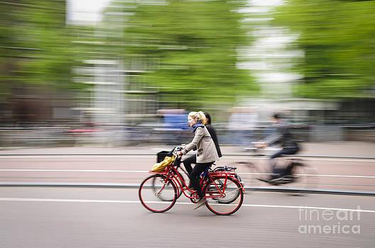 Oscar Gutierrez - Girl on Red Bicycle