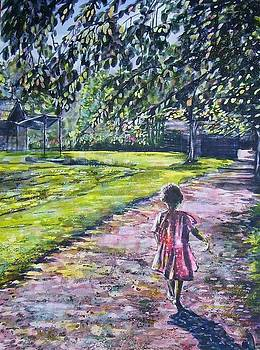 Girl On Trail by Linda Vaughon