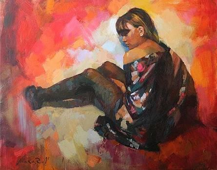 Girl Peaks by Vadim Makarov