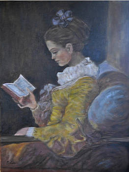 Girl Reading by Terry Sita