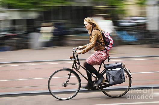 Oscar Gutierrez - Girl Riding Bicycle