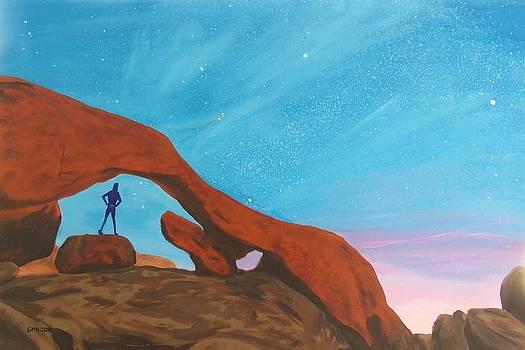 Girl under Stars by Glenn Harden