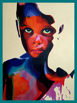 Girl W/Green Eyes-SOLD by MarvL Roussan