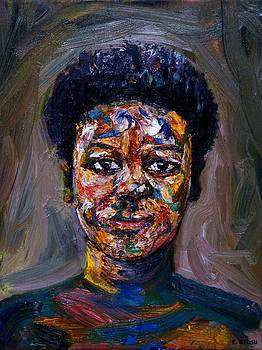 Girl with a cheeky smile by Edward Ofosu