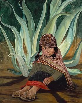 Girl with Agave by Christine Lytwynczuk