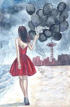 Girl with Balloons by Sabina Mollot