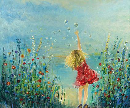 Girl With Bubbles by Gabriela Simonovski