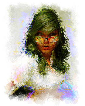 Girl With Glasses by Mark Compton