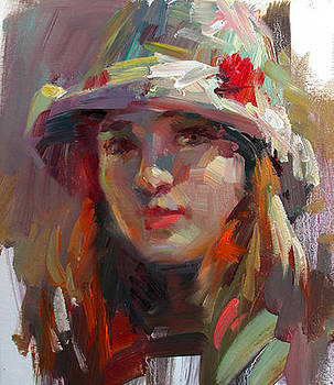 Girl with hat by Tony Song