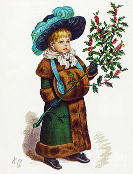 Mary Evans - Girl With Holly