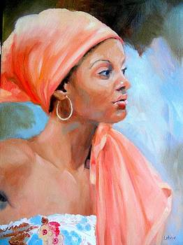 Women in Scarves Collection - Ms. O by Carol Leben