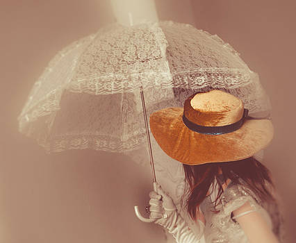 Girl with parasol by Georgina Noronha