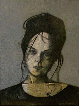 Girl With Tattoo by Cynthia Hilliard