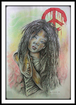 Girl with the Marley Tattoo by Chris Mc Crossan