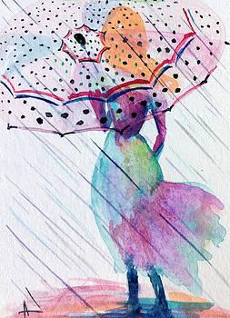 Patricia Lazaro - Girl with Umbrella Dot