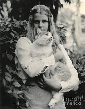 Wayne Nielsen - Girl Young with Cat