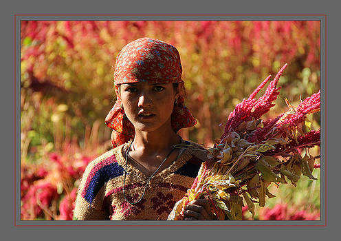 Girld in field by Santosh Jaiswal