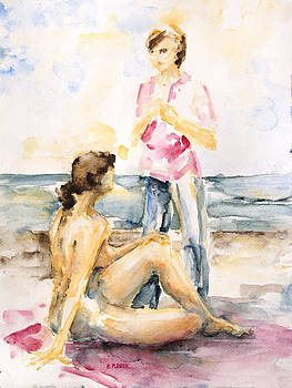 Girlfriends At The Beach by Barbara Pommerenke