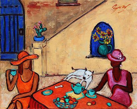 Girlfriends' Teatime II by Xueling Zou