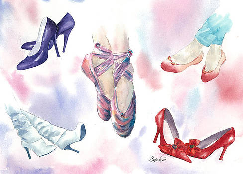 Girls Dream of Cinderella Princess Shoes by Barb Capeletti