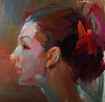 Girl's Side Portrait by Tony Song