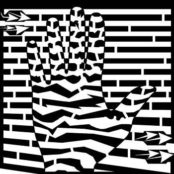 Give Me Five Maze  by Yonatan Frimer Maze Artist