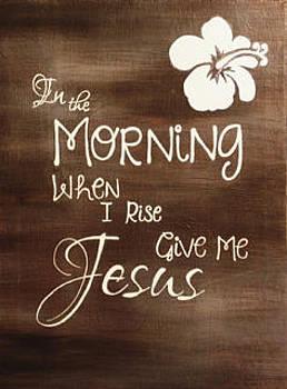Give me Jesus by Color  Splash