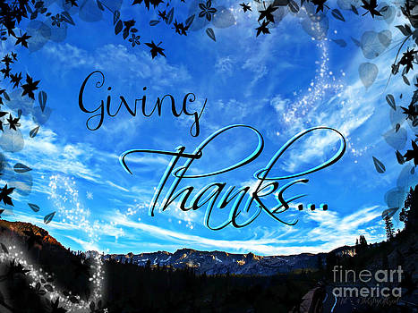 Giving Thanks by Sharon Tate Soberon
