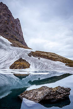 Glacial Lake in Spring by Tim Newton