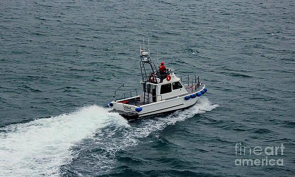 Glacier Bay Park Service Vessel by Gina Gahagan