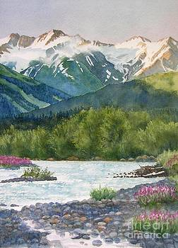 Sharon Freeman - Glacier Creek Summer Evening