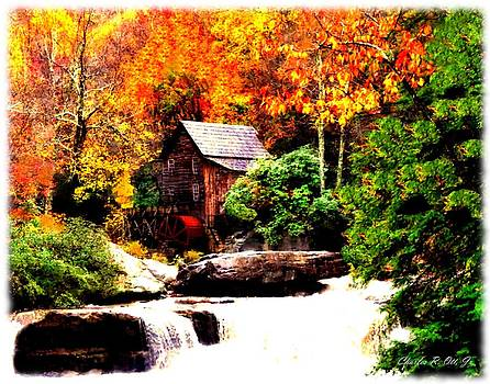 Glade Creek Grist Mill by Charles Ott