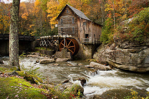 Glade Creek Grist Mill by Nathaniel Kidd