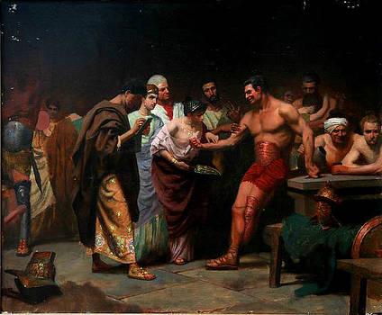 Gladiators before output into arena by Kartashov Andrey