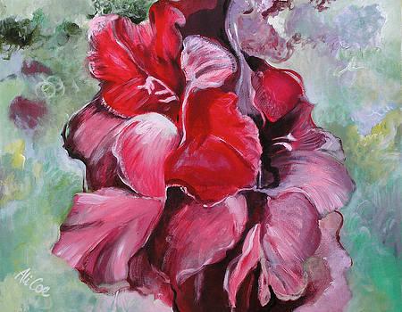 Gladioli by Alicja Coe