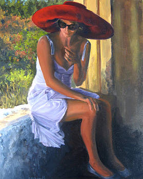 Glamour of a Red Hat by Connie Schaertl