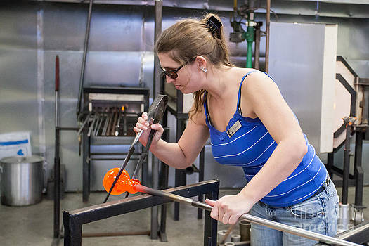 Glass Artwork Takes Form by Bruce Smalley