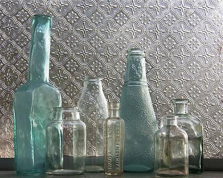Glass bottles 2 by Jocelyn Friis