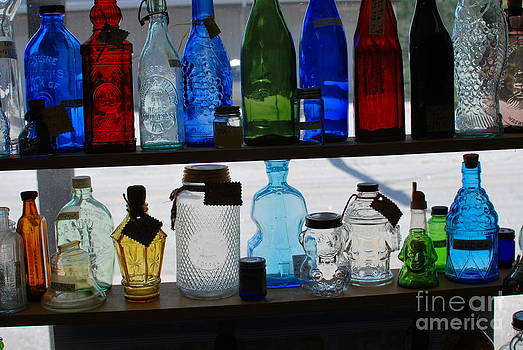 Glass Bottles by Tracey Hampton