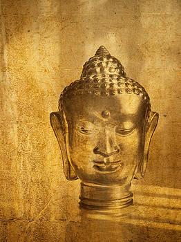 Stuart Brown - Glass Buddha Head # 1