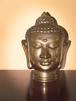 Stuart Brown - Glass Buddha Head # 8