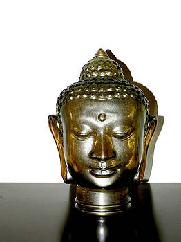 Stuart Brown - Glass Buddha Head # 4