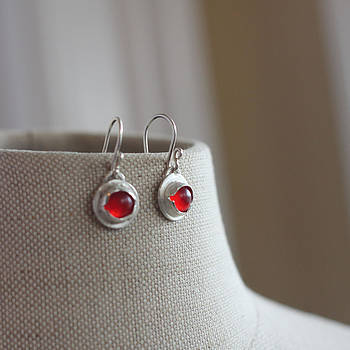 Glass Eye earrings by Kelly Clower