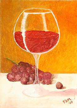 Glass of Grapes by Frank Middleton