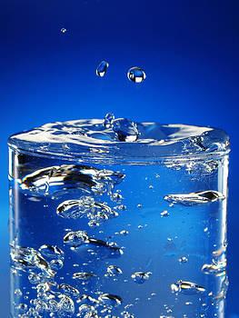 Glass Of Splashed Water by Martin Joyful
